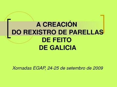 Adelaida Vega Hernández - Xornadas sobre o Rexistro de Parellas de Feito de Galicia